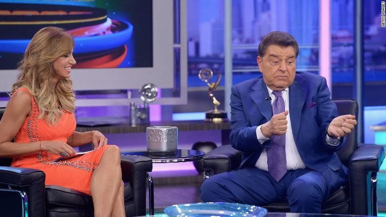 photo of don Francisco of the popular Latin program, Sabado Gigante demonstrating his leadership skills which lent to the success of the show.