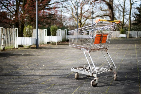 an abandoned shopping cart in the park is it a problem cased by ethics or leadership?