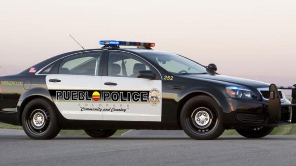 Pueblo police patrol car
